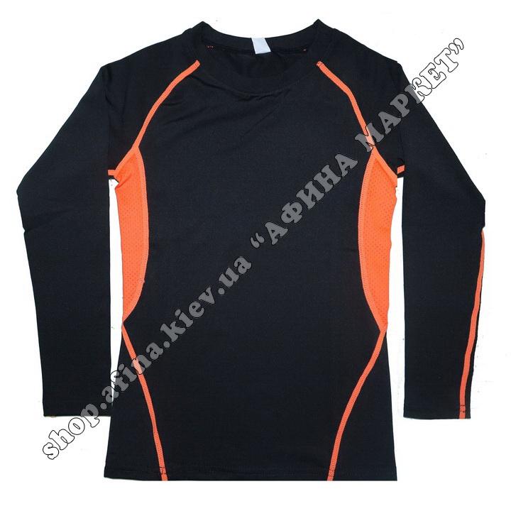 Термобілизна дитяча для футболу зі світловідбиваючими елементами Black/Orange  107504