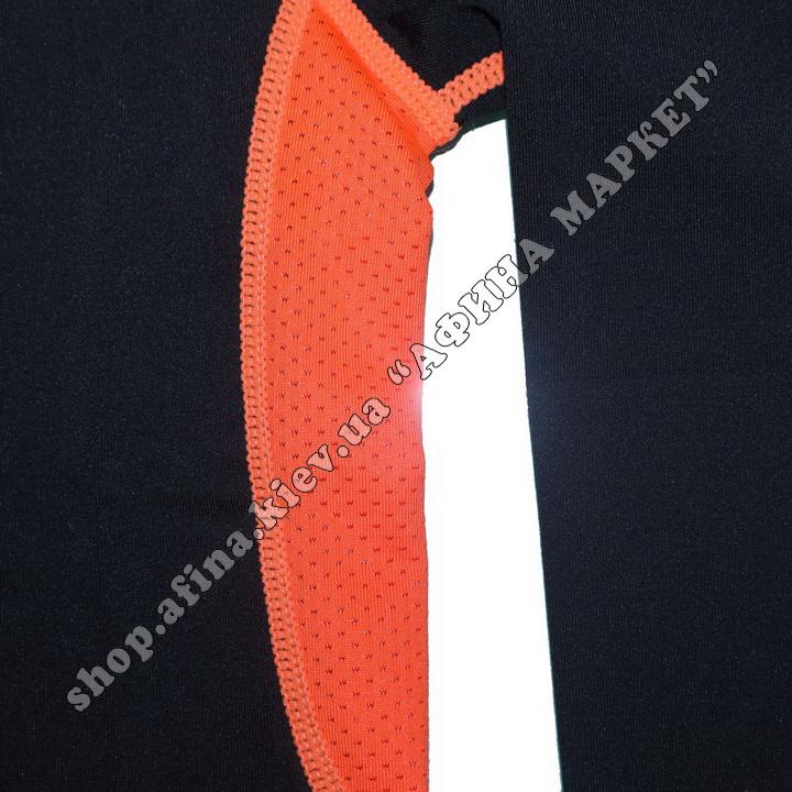 Термобілизна дитяча для футболу зі світловідбиваючими елементами Black/Orange  107505