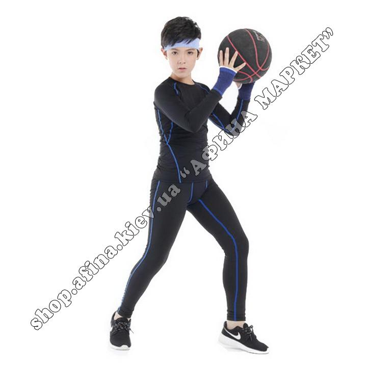 Термобілизна дитяча для футболу FENTA комплект Black/Blue 107576