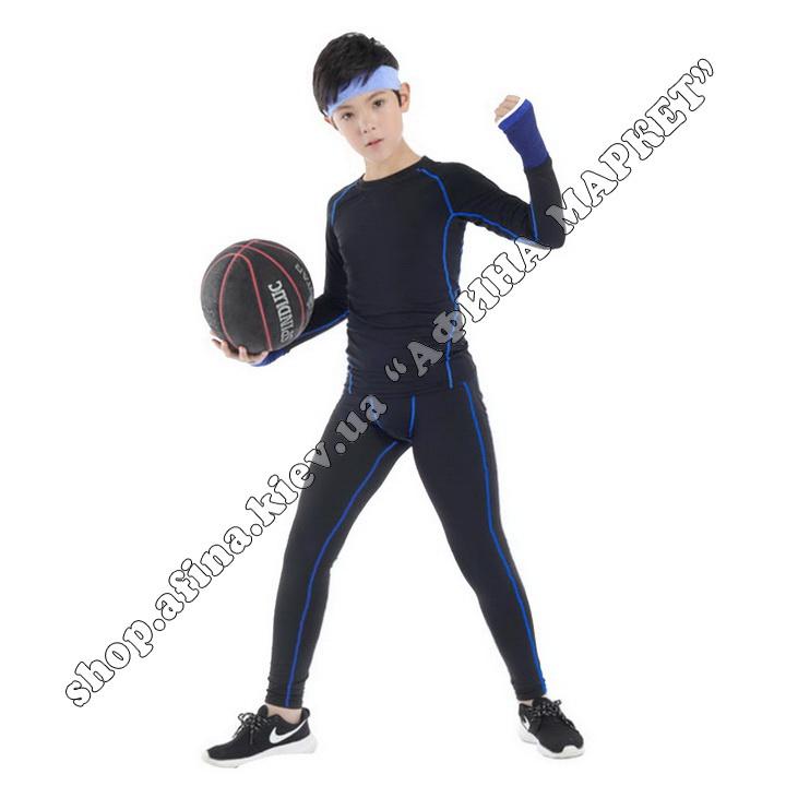 Термобілизна дитяча для футболу FENTA комплект Black/Blue 107574
