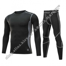 Thermal Underwear CD Black/Gray Reflective Adult