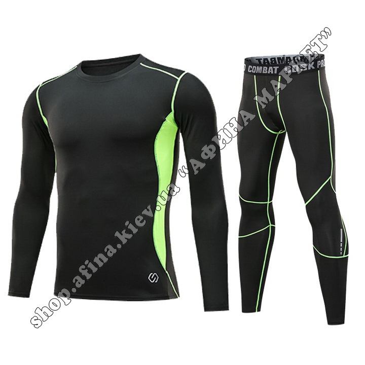 Thermal Underwear CD Black/Green Reflective Adult