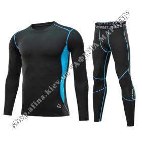 Thermal Underwear CD  Black/Blue Reflective Kids