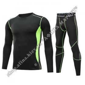 Thermal Underwear CD Black/Green Reflective Kids