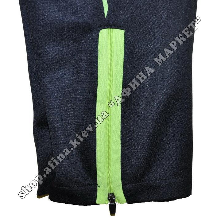 Зауженные штаны для футбола F50 салатовые