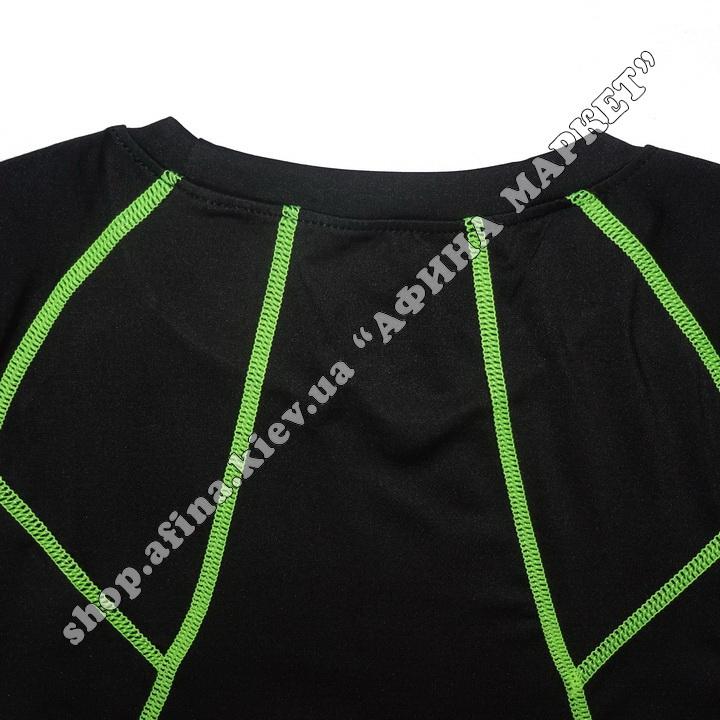 Гірськолижна термобілизна дитяча SPORT Black/Green 107722