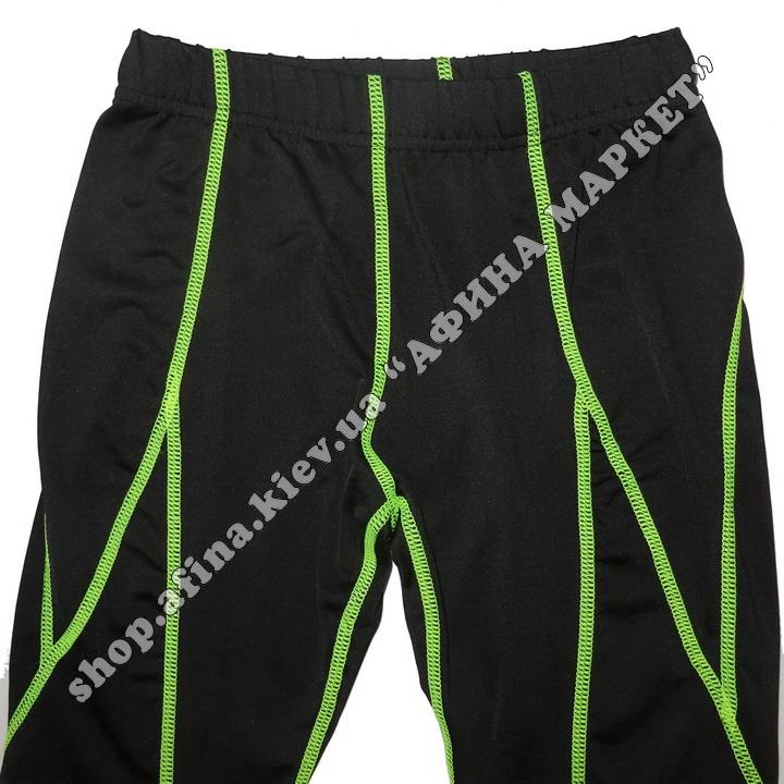 Гірськолижна термобілизна дитяча SPORT Black/Green 107724
