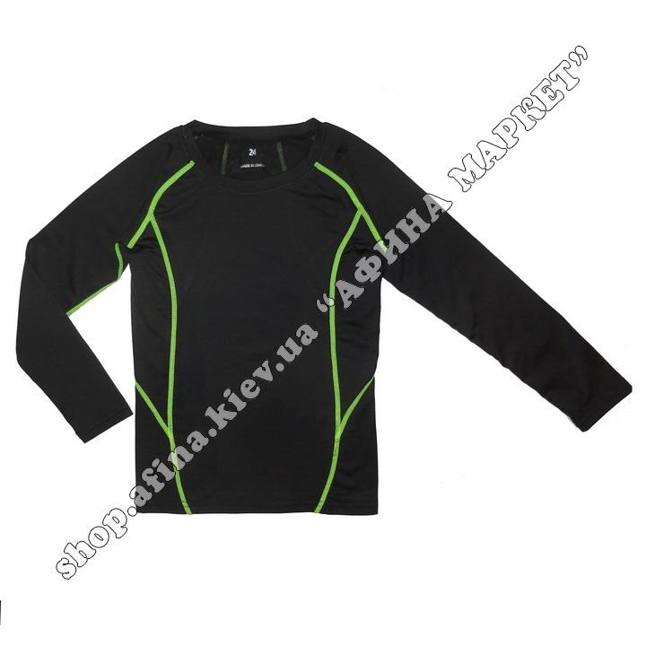 Гірськолижна термобілизна дитяча SPORT Black/Green 107719