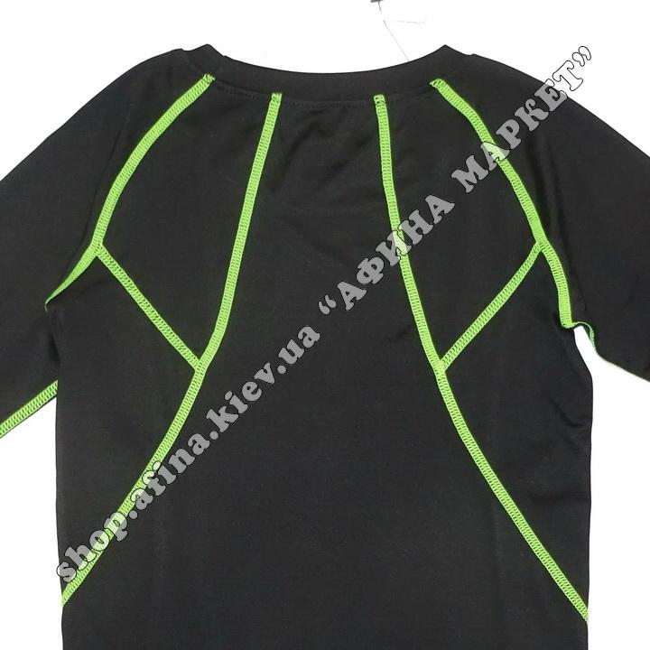 Гірськолижна термобілизна дитяча SPORT Black/Green 107721