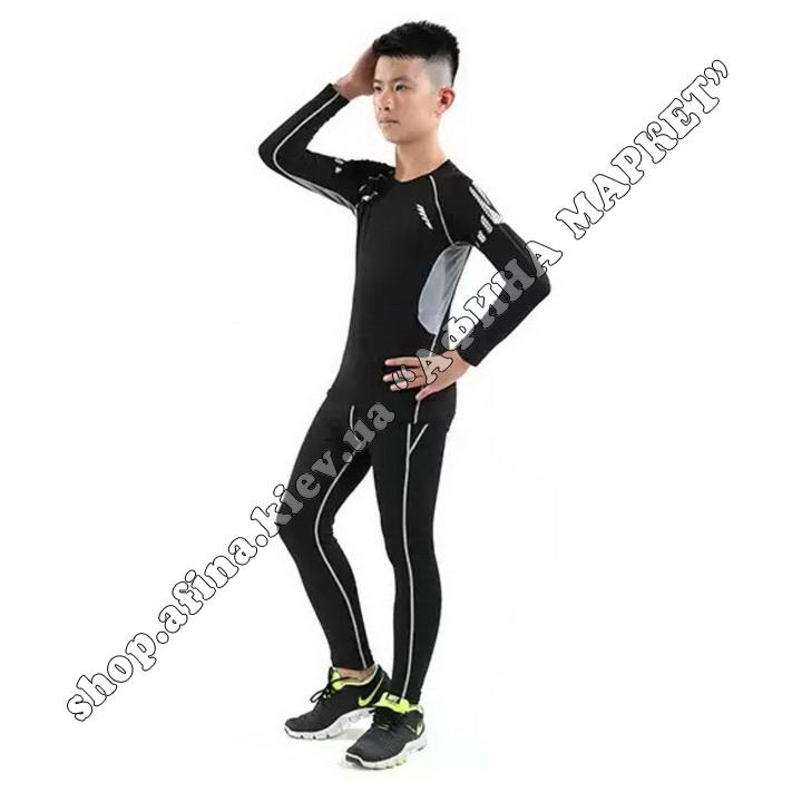 Гірськолижна термобілизна дитяча для футболу FENTA Black Ventilation 107681