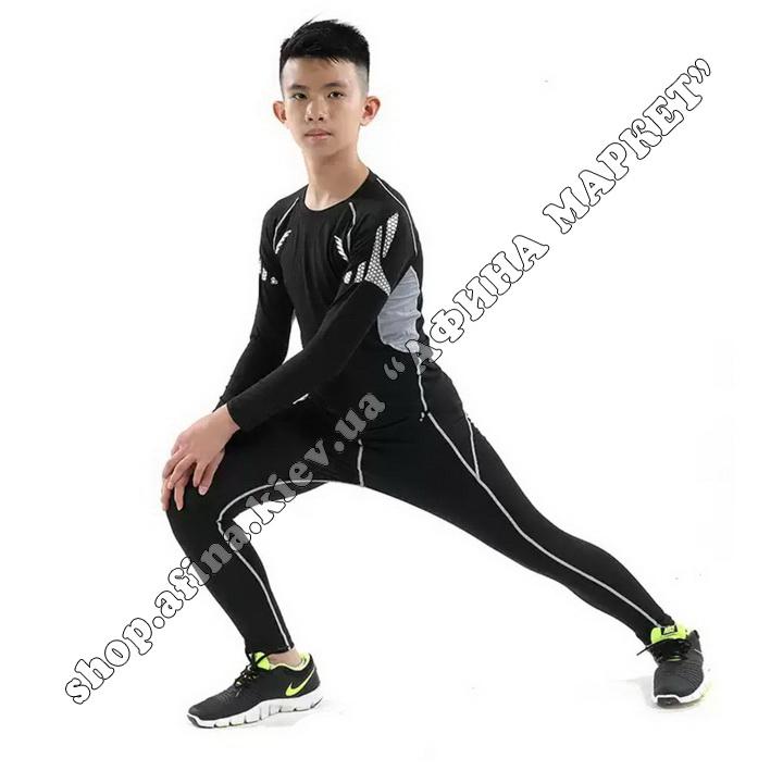 Гірськолижна термобілизна дитяча для футболу FENTA Black Ventilation 107682